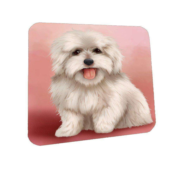 Coton De Tulear Dog Coasters Set of 4