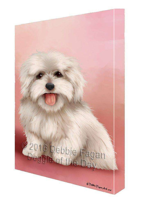 Coton De Tulear Dog Painting Printed on Canvas Wall Art