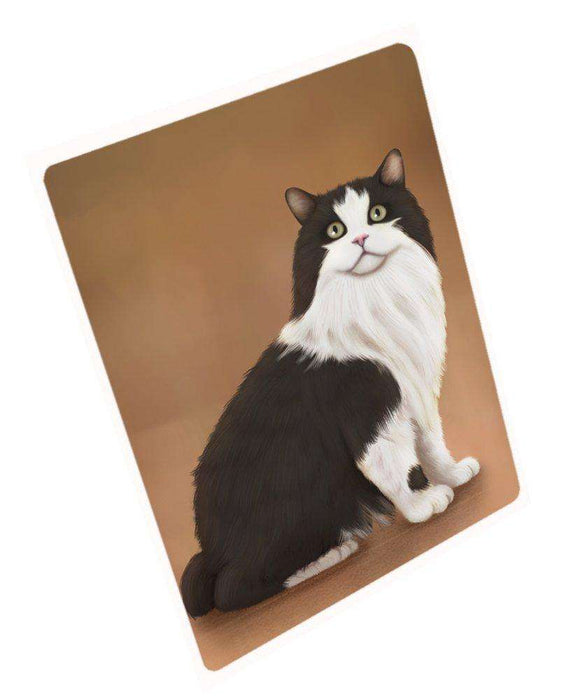 Cymric Black And White Cat Rectangle Envelope Seals