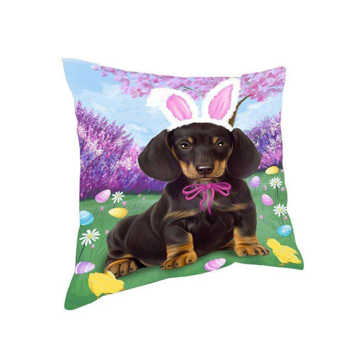 Dachshund Dog Easter Holiday Pillow PIL52336