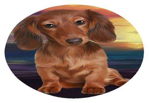 Dachshund Dog Oval Envelope Seals