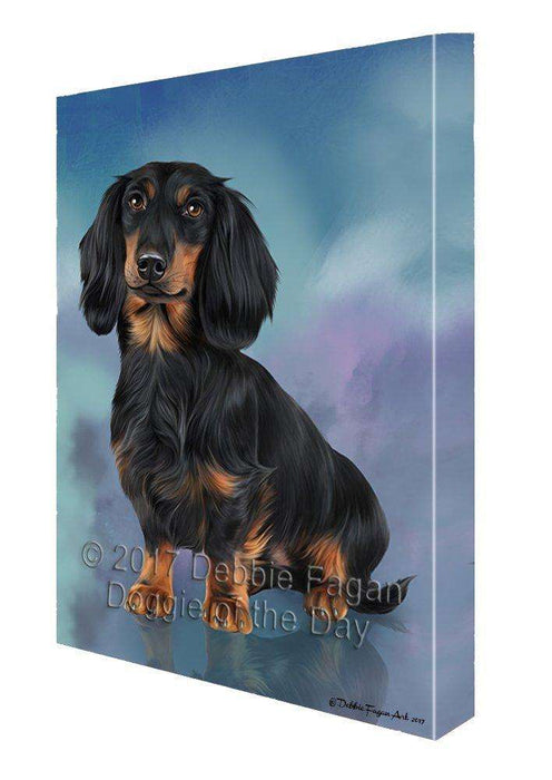Dachshund Dog Painting Printed on Canvas Wall Art