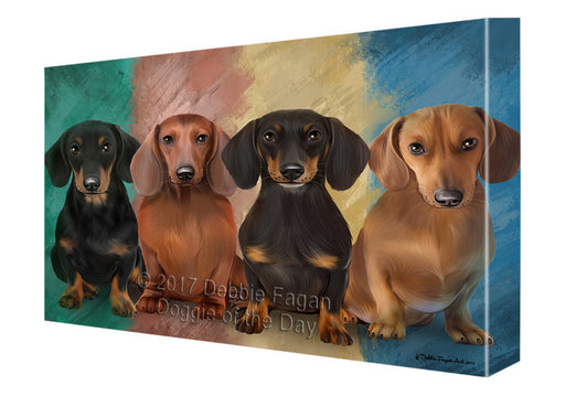 4 Dachshunds Dog Canvas Wall Art CVSA50070