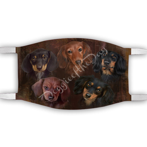 Rustic Dachshund Dogs Face Mask FM50050
