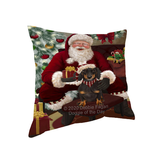 Santa's Christmas Surprise Dachshund Dog Pillow PIL87152
