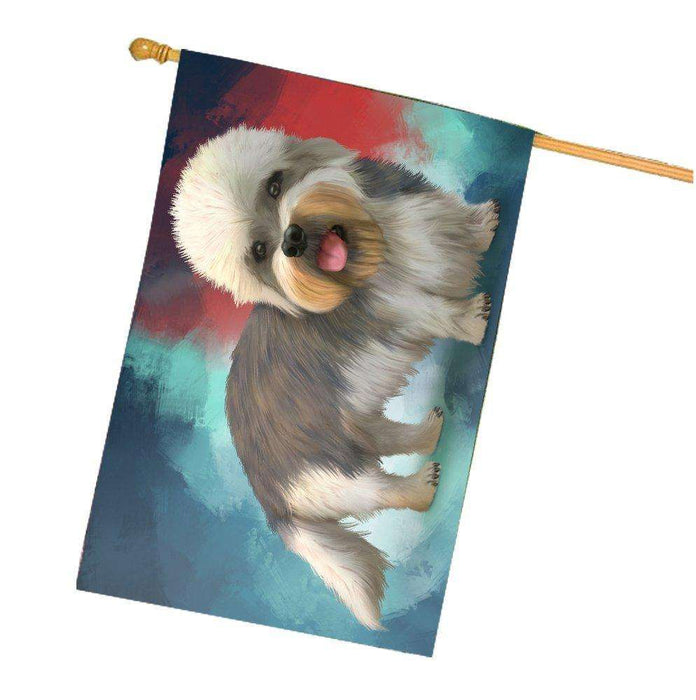 Dandie Dinmont Dog House Flag