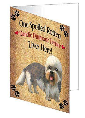 Dandie Dinmont Terrier Spoiled Rotten Dog Note Card