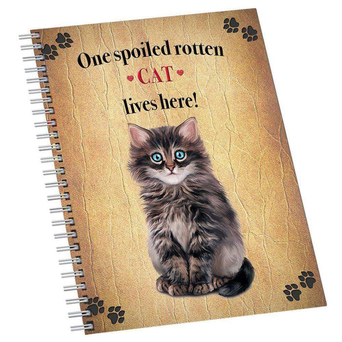 Dark Grey Spoiled Rotten Cat Notebook