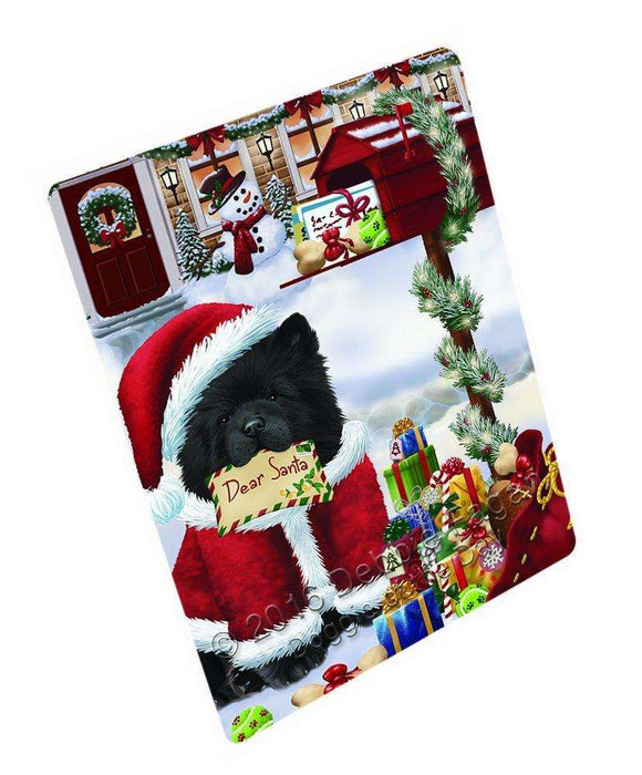 Dear Santa Mailbox Christmas Letter Chow Chow Dog Large Refrigerator / Dishwasher Magnet D027