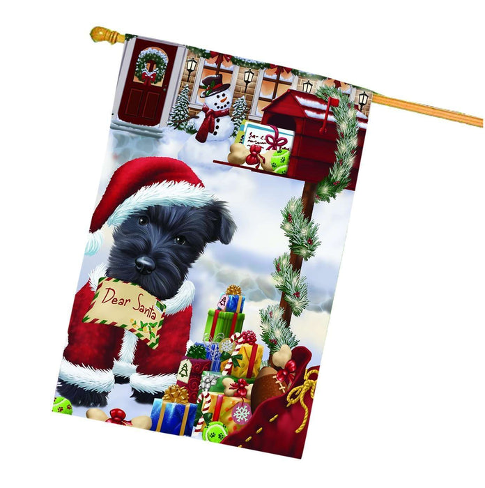 Dear Santa Mailbox Christmas Letter Scottish Terrier Dog House Flag