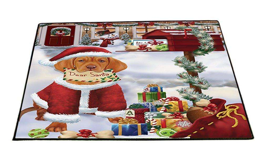 Dear Santa Mailbox Christmas Letter Vizsla Dog Indoor/Outdoor Floormat