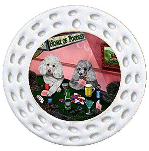 Details about Home of Poodles Christmas Holiday Ornament 4 Dogs Playing Poker