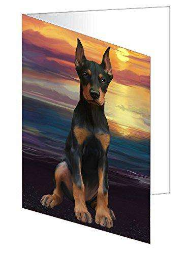 Doberman Pincher Dog Greeting Card D290