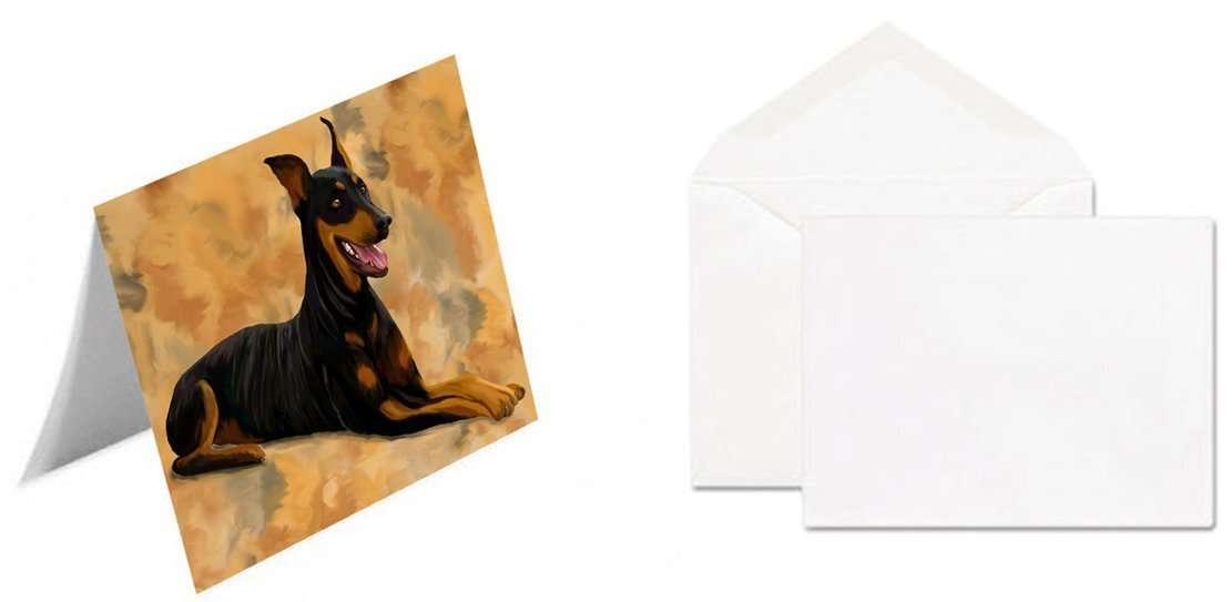 Doberman Pinscher Dog Greeting Card
