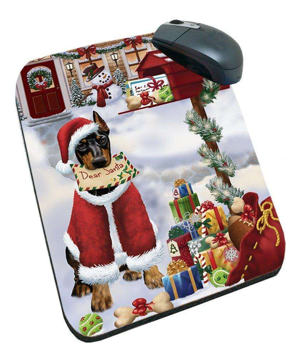 Doberman Pinschers Dear Santa Letter Christmas Holiday Mailbox Dog Mousepad