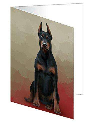 Doberman Pinschers Dog Greeting Card D138