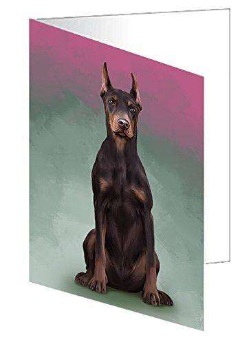 Doberman Pinschers Dog Greeting Card D140