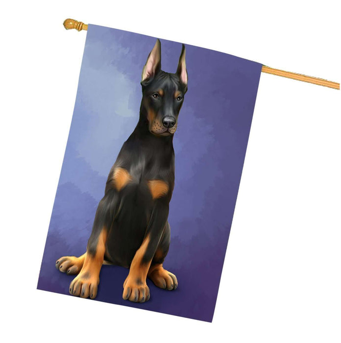 Doberman Pinschers Dog House Flag