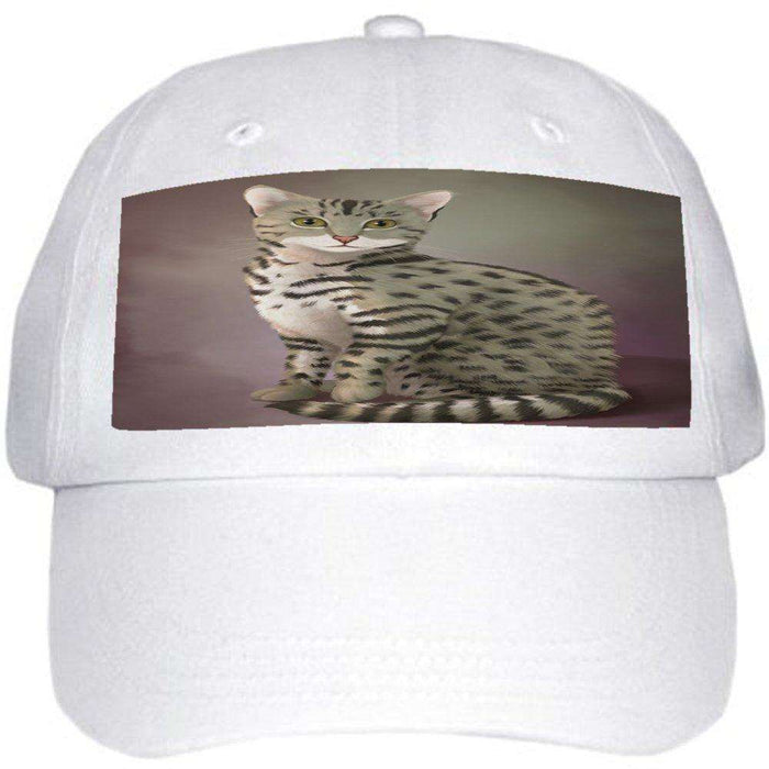 Egyptian Mau Cat Ball Hat Cap Off White