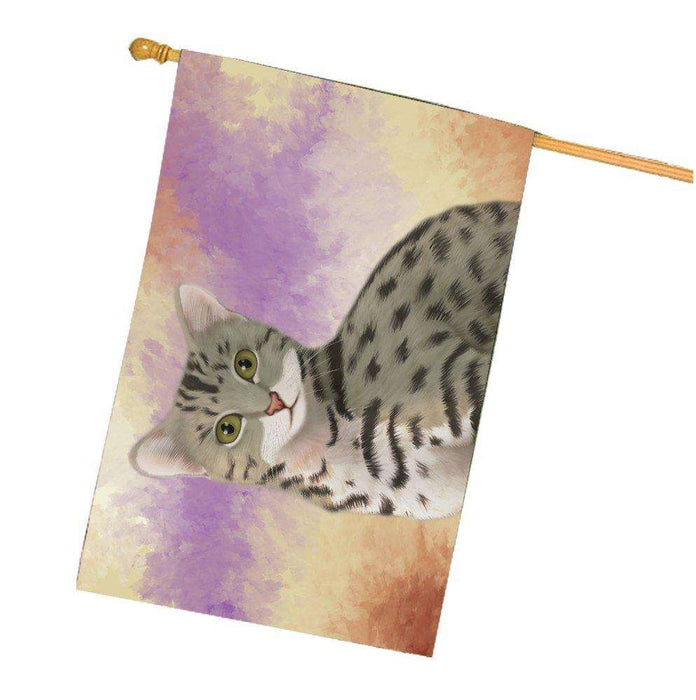 Egyptian Mau Cat House Flag