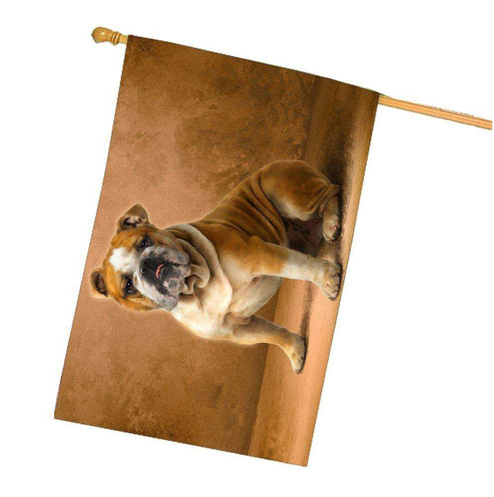 English Bulldog Dog House Flag