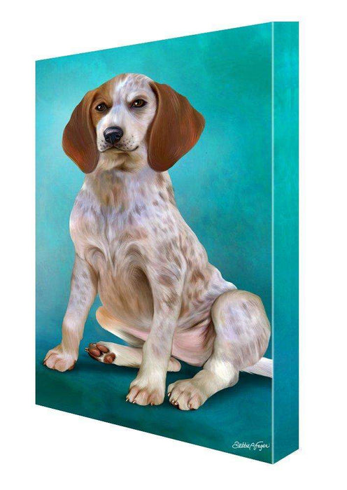 English Coonhound Dog Painting Printed on Canvas Wall Art Signed