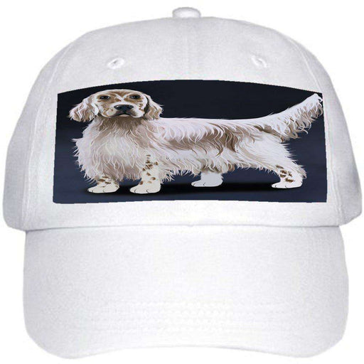 English Setter Dog Ball Hat Cap Off White