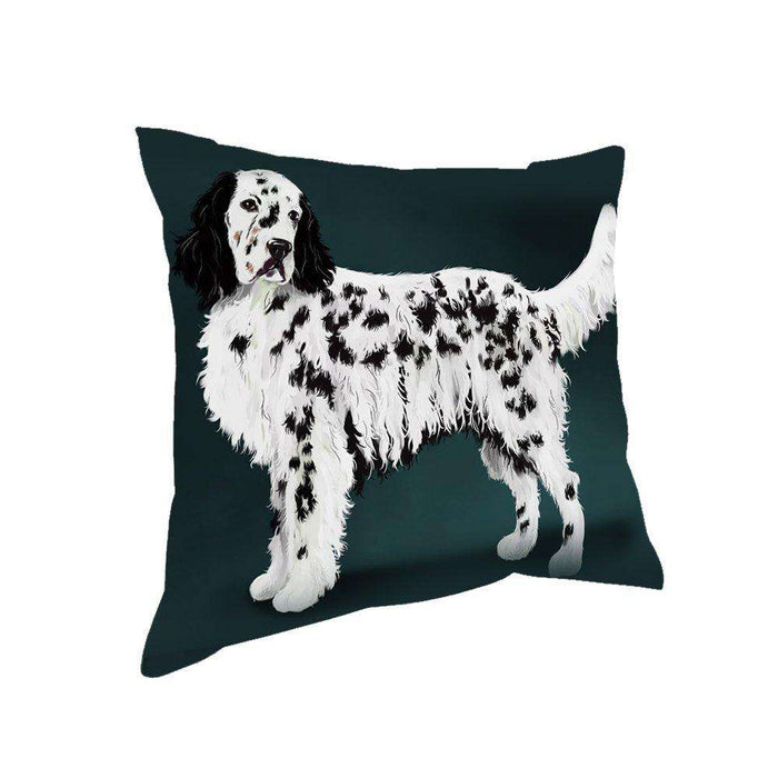 English Setter Dog Throw Pillow