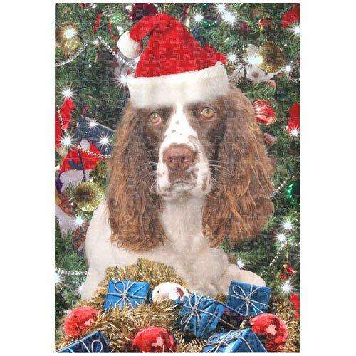 English Springer Spaniel Christmas 252 Pc. Puzzle with Photo Tin