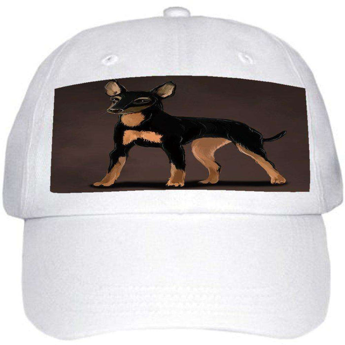 361affede82345 English Toy Terrier Dog Ball Hat Cap Off White — Doggie of the Day .