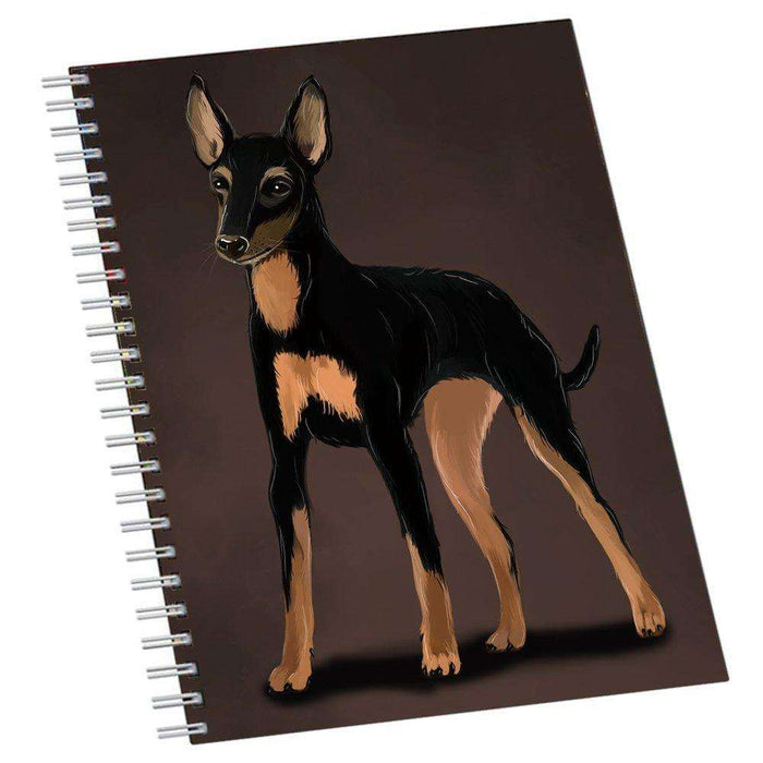 English Toy Terrier Dog Notebook