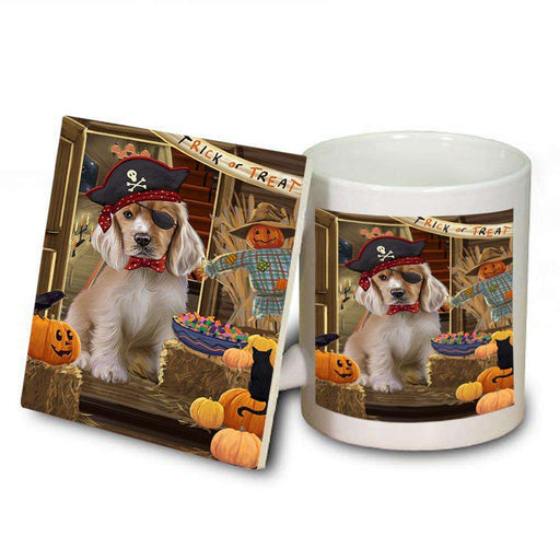 Enter at Own Risk Trick or Treat Halloween Cocker Spaniel Dog Mug and Coaster Set MUC53088