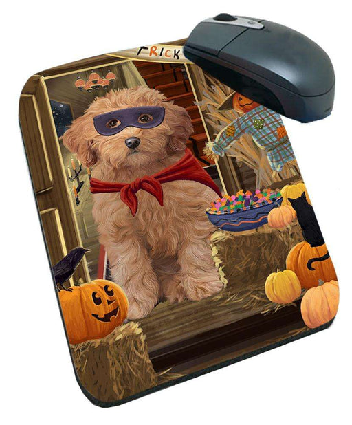 Enter at Own Risk Trick or Treat Halloween Goldendoodle Dog Mousepad MPD53135