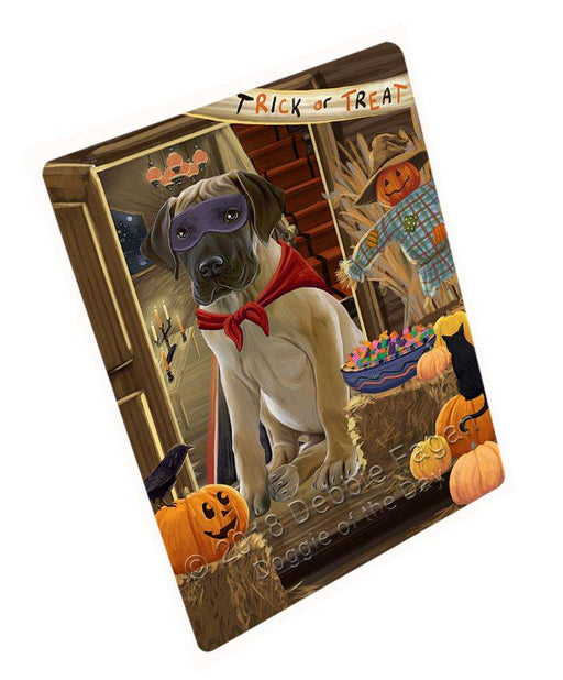 "Enter At Own Risk Trick Or Treat Halloween Great Dane Dog Magnet Mini (3.5"" x 2"") MAG63864"