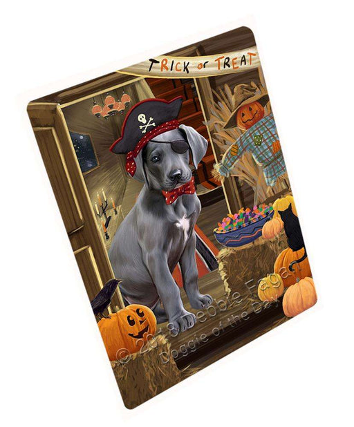 "Enter At Own Risk Trick Or Treat Halloween Great Dane Dog Magnet Mini (3.5"" x 2"") MAG63867"