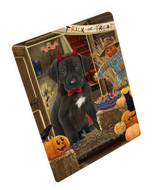 "Enter At Own Risk Trick Or Treat Halloween Great Dane Dog Magnet Mini (3.5"" x 2"") MAG63870"