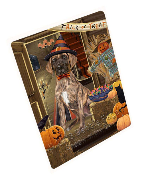 "Enter At Own Risk Trick Or Treat Halloween Great Dane Dog Magnet Small (5.5"" x 4.25"") mag63873"