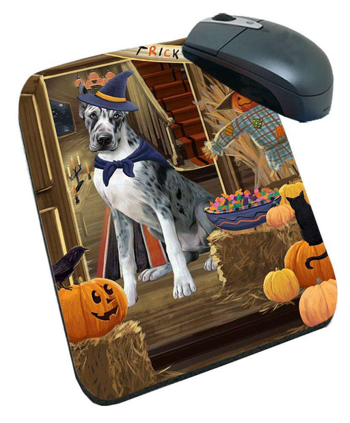 Enter at Own Risk Trick or Treat Halloween Great Dane Dog Mousepad MPD53139