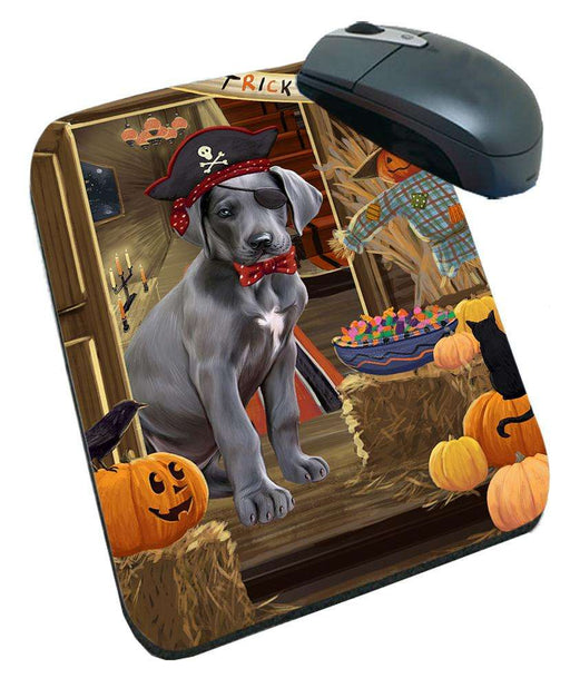 Enter at Own Risk Trick or Treat Halloween Great Dane Dog Mousepad MPD53141