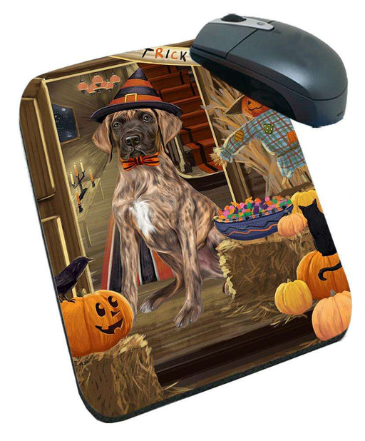 Enter at Own Risk Trick or Treat Halloween Great Dane Dog Mousepad MPD53143
