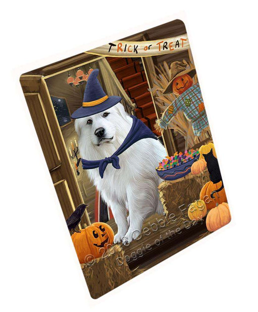 "Enter At Own Risk Trick Or Treat Halloween Great Pyrenee Dog Magnet Small (5.5"" x 4.25"") mag63876"