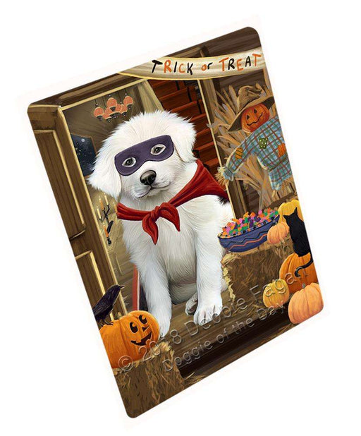 "Enter At Own Risk Trick Or Treat Halloween Great Pyrenee Dog Magnet Small (5.5"" x 4.25"") mag63879"