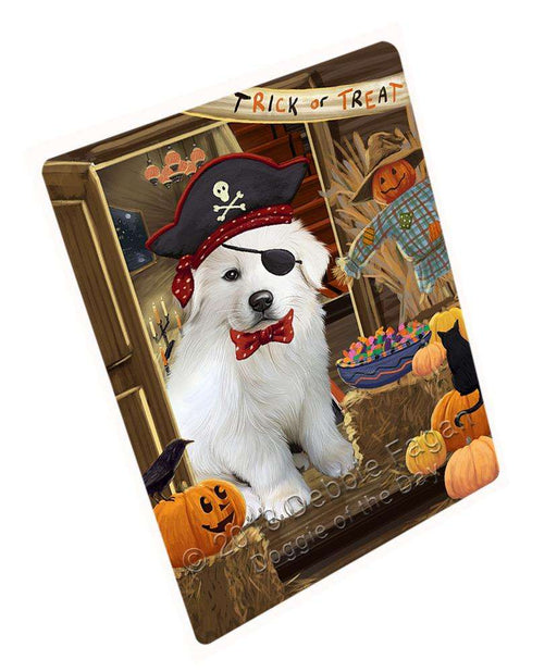 "Enter At Own Risk Trick Or Treat Halloween Great Pyrenee Dog Magnet Small (5.5"" x 4.25"") mag63882"