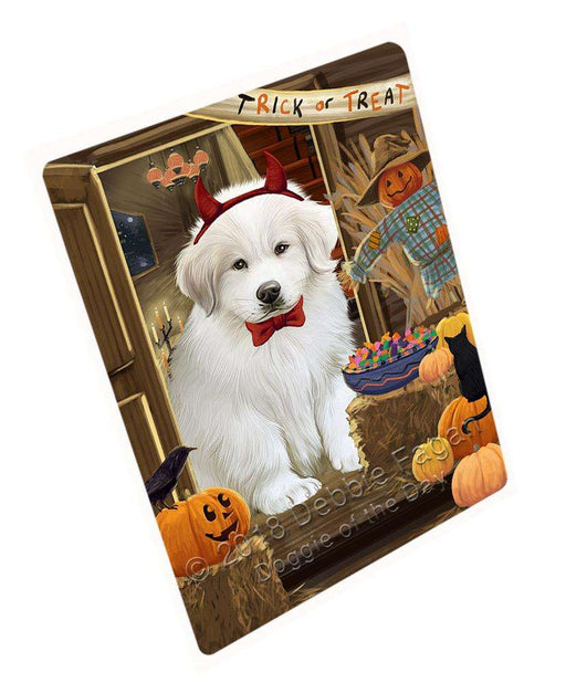 "Enter At Own Risk Trick Or Treat Halloween Great Pyrenee Dog Magnet Small (5.5"" x 4.25"") mag63885"