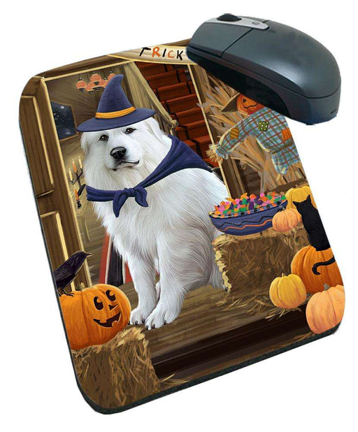 Enter at Own Risk Trick or Treat Halloween Great Pyrenee Dog Mousepad MPD53144