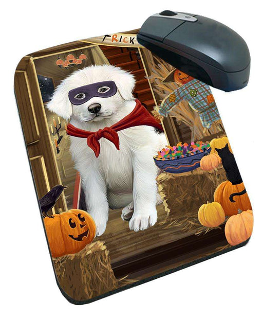 Enter at Own Risk Trick or Treat Halloween Great Pyrenee Dog Mousepad MPD53145