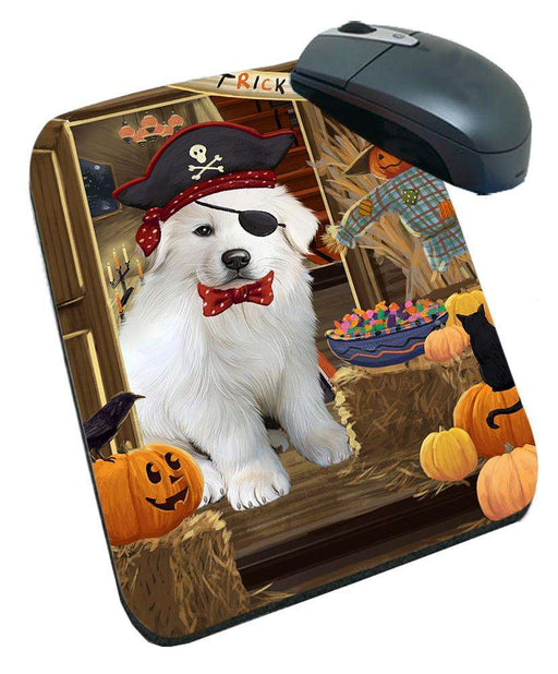 Enter at Own Risk Trick or Treat Halloween Great Pyrenee Dog Mousepad MPD53146