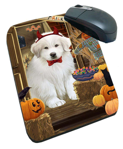 Enter at Own Risk Trick or Treat Halloween Great Pyrenee Dog Mousepad MPD53147