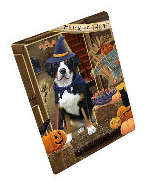 "Enter At Own Risk Trick Or Treat Halloween Greater Swiss Mountain Dog Magnet Mini (3.5"" x 2"") MAG63891"