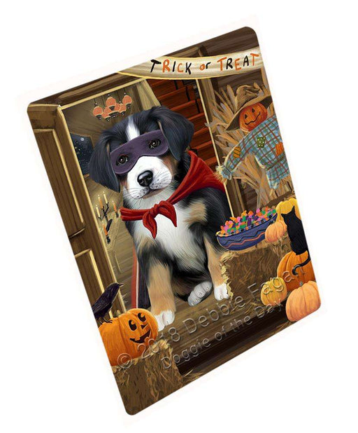 "Enter At Own Risk Trick Or Treat Halloween Greater Swiss Mountain Dog Magnet Mini (3.5"" x 2"") MAG63894"